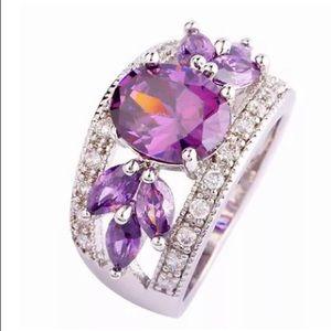 Amethyst Purple Gemstone Fashion Ring NWT